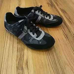 Coach sneakers black gray women 9